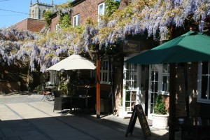 Wisteria tea rooms from outside