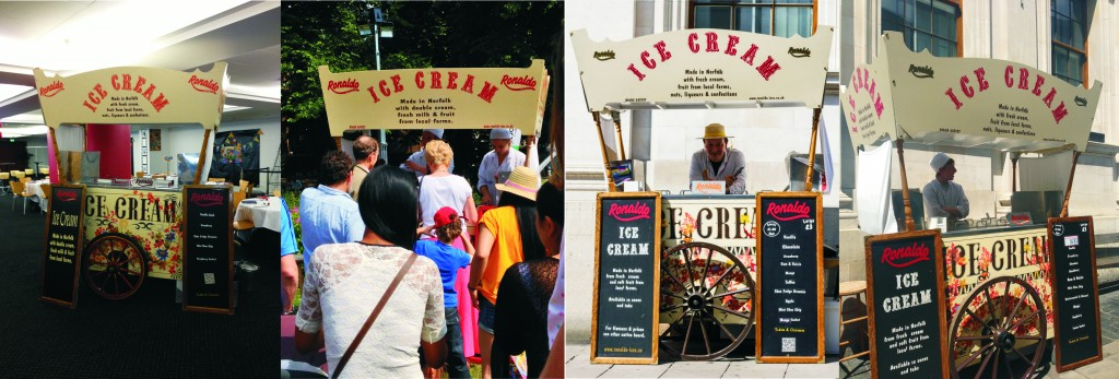 four Ice Cream Carts covering events & Weddings
