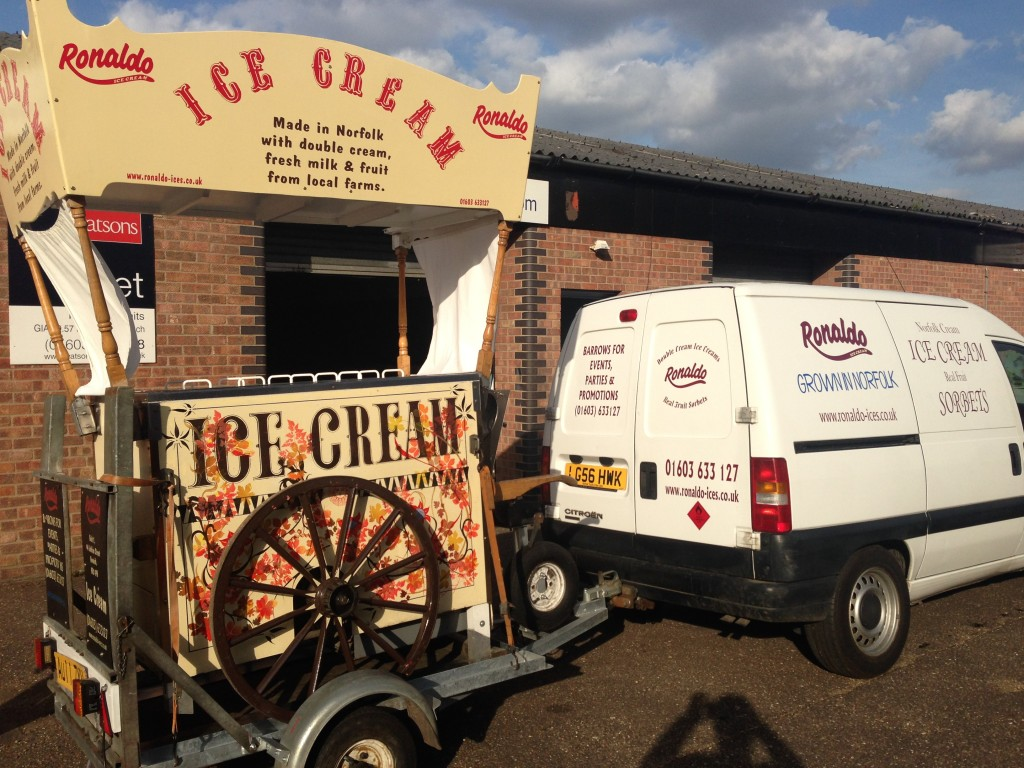 Ice Cream Cart off to cover an event